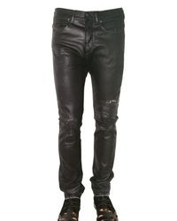Neil Barrett | Black Waxed Denim Jeans for Men | Lyst
