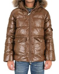 Pyrenex | Brown Fur Hood Quilted Sport Jacket for Men | Lyst