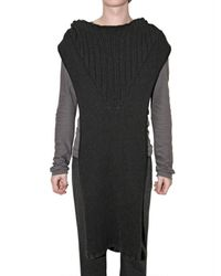 Rick Owens | Black Light Alpaca Hooded Tunic Vest for Men | Lyst