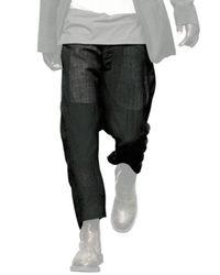Rick Owens | Black Wool Gauze Trousers for Men | Lyst