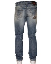 Roy Rogers | Blue Slim Destroyed Selvage Denim Jeans for Men | Lyst