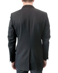 Simon Spurr - Black Barathea Wool Convertible Lapel Jacket for Men - Lyst