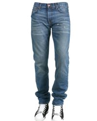 Simon Spurr | Blue 2 Year Wash Denim Pipe Fit Jeans for Men | Lyst