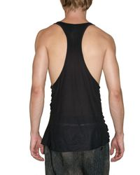 Tom Rebl | Black Cut Out Printed Jersey Tank Top for Men | Lyst
