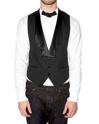 Viktor & Rolf | Black Silk Collar Vest for Men | Lyst