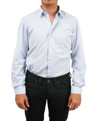 Vincenzo Di Ruggiero - Blue Darted Cotton Shirt for Men - Lyst