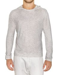 Z Zegna | Gray Hooded Long Sleeve Viscose Jerse T-shirt for Men | Lyst