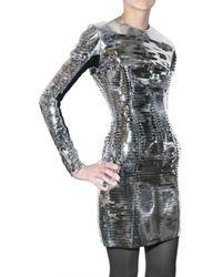 Gareth Pugh | Metallic Slit Pvc Dress | Lyst