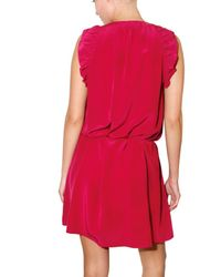 Vanessa Bruno - Purple Washed Crepe De Chine Dress - Lyst