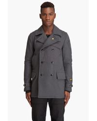 G-Star RAW | Gray Fleet Carrier Wool Coat for Men | Lyst