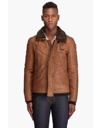Yigal Azrouël | Brown Leather Bomber Jacket for Men | Lyst