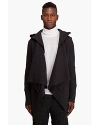 Yigal Azrouël | Gray Melange Cape for Men | Lyst