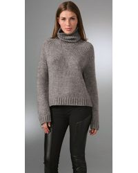Acne | Gray Reba Turtleneck Sweater | Lyst