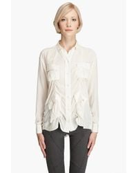 Acne Studios - White Shining Pocket Shirt - Lyst