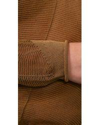 Alexander Wang - Metallic Mesh Long Sleeve Pullover Top - Lyst