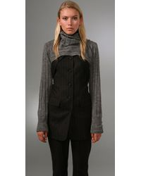 Alexander Wang | Gray Cropped Turtleneck Shrug | Lyst