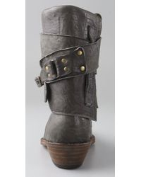 Becca Moon - Gray Kicker Convertible Boots - Lyst