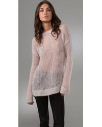 By Malene Birger | Pink Baquilla Mohair Sweater | Lyst