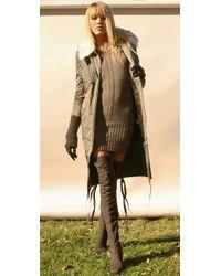 Camilla Skovgaard - Gray Over The Knee Wedge Boots - Lyst