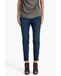 Current/Elliott | Blue The Pilot Trouser Jeans | Lyst