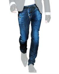DSquared² - Blue Regular Fit Denim Jeans for Men - Lyst