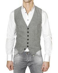 DSquared² | Gray Houndstooth Vest for Men | Lyst