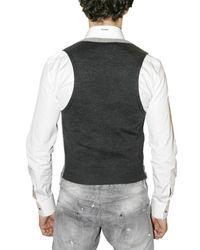 DSquared² - Gray Houndstooth Vest for Men - Lyst