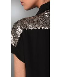 Elizabeth and James - Metallic Sequin Blouse - Lyst