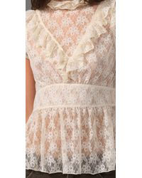 Free People - White Victoria Top - Lyst