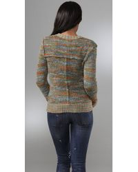 Free People - Multicolor Poof Cardi in Multi Green 30 Off - Lyst