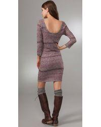 Free People | Pink Sunrise Knit Dress | Lyst