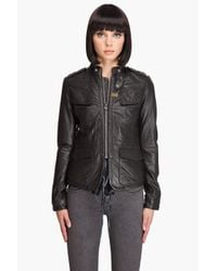 G-Star RAW | Black New Deanie Leather Jacket | Lyst