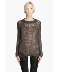Graham & Spencer | Gray Mohair Oversized Sweater | Lyst