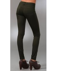 J Brand - Green Sateen Legging - Lyst
