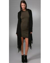 Jamison | Black Alistar Long Cardigan with Fringe | Lyst
