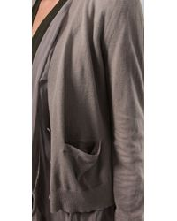 Jarbo | Gray Silk Lined Cardigan | Lyst