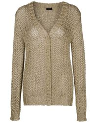 JOSEPH | Metallic Open-knit Cardigan | Lyst