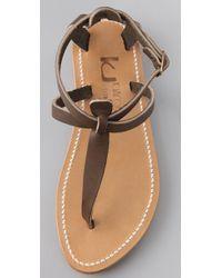 K. Jacques - Brown Buffon Thong Sandals - Lyst