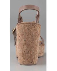 K. Jacques | Natural Diapason Cork Slide Sandals | Lyst