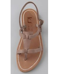 K. Jacques - Natural Jaffa Thong Sandals with Double Band - Lyst