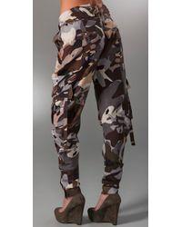 L.A.M.B. - Brown Camo Cargo Pants - Lyst