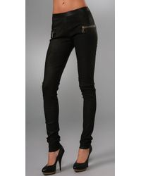Les Chiffoniers | Black Zip Pocket Lagato Leather Leggings | Lyst
