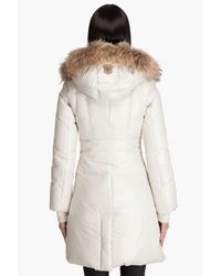 Mackage | Off White Down Filled Raccoon Fur Trim Aurelia Hooded Coat | Lyst