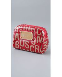 Marc By Marc Jacobs - Red Hairy Logo Mini Cosmetic Bag - Lyst
