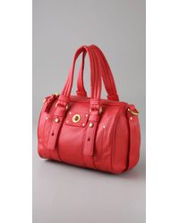 Marc By Marc Jacobs - Red Totally Turnlock Shifty Satchel - Lyst