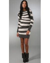 McQ | White Zebra Sweater Dress | Lyst