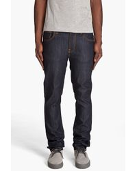 Nudie Jeans | Natural Thin Finn Organic Dry Ecru Jeans for Men | Lyst