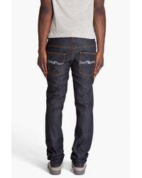Nudie Jeans - Blue Thin Finn Organic Dry Ecru Jeans for Men - Lyst