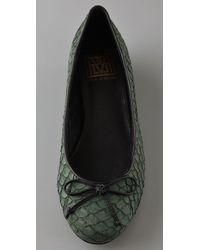 Pour La Victoire | Green Hessa Ballet Flats with Hidden Wedge | Lyst