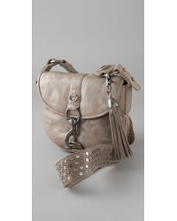 Rebecca Minkoff - Gray Lust Studded Leather Crossbody Bag - Lyst